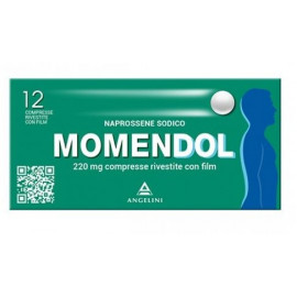 ANGELINI MOMENDOL 220MG ANTI-INFLAMMATORY ANALGESIC-12 COATED TABLETS