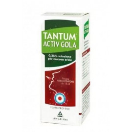 TANTUM VERDE ANGELINI 0.25% NEBULIZER FOR SORE THROAT AND IRRITATION OF MOUTH SPRAY 15ML